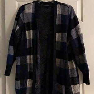 Blue flannel cardigan